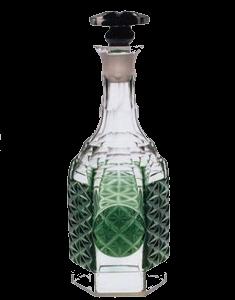 緑色被栓付瓶_岡仙汲古堂蔵